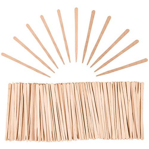 Hedume 2000 Pieces Wax Sticks, Wood Spatulas Applicator Craft Sticks, Small Wax Spatulas Hair Removal Eyebrow and Body