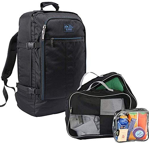 Cabin Max Metz Recycled RPET Travel Backpack and Packing Cubes (Packing Solution - Black)