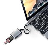 Satechi Type-C アルミニウム UHS-II Micro/SDカードリーダー (iMacPro, MacBook Pro, MacBook Air2018以降, iPad Proなど対応)(スペースグレイ)