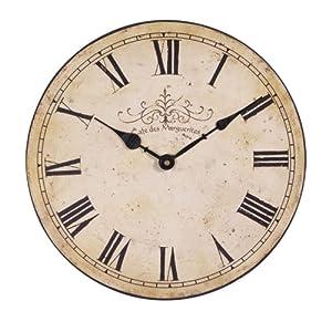 Vintage Wooden Wall Clocks Shabby Flower Flora Chic Kitchen Home Decor \