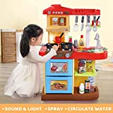 Temi Kids Kitchen Playset Pretend Food - 34 PCS Kitchen Toys for Toddlers, Toy Accessories Set w/...