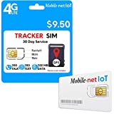 Mobile Net IoT $9.50 GSM Sim Card Nationwide AT&T 4G LTE for GPS Tracking Pet Senior Kid Child Car Smart Watch Devices Locators 30-Day Wireless Service