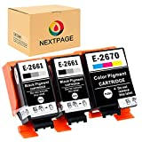 NEXTPAGE Kompatible für Epson T2661 T2670 T-2661 T-2670 Tintenpatronen Ersatz für Epson WF-100W WF-110W Workforce Drucker (2 Schwarz, 1 Farbig) wisch und wasserfeste Pigmenttinte