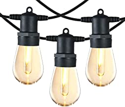 SUNTHIN 48FT LED Outdoor String Light with Shatterproof LED Filament Bulb for Patio Lights, Backyard Lights, Porch Lights, Party Lights and Commercial Lighting