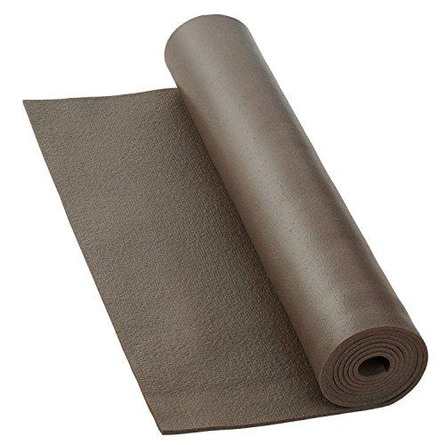 Yogamatte RISHIKESH PREMIUM 80 XL, rutschfest, groß & extra-stark, 4,5mm Studiomatte, Ökotex 100, maschinenwaschbar, lang: 200 x 80 cm (grau)