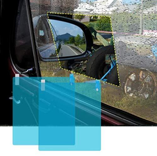 Globents Too Goods Auto Rückspiegel Regenschutz Folie Antibeschlag Schutzfolie Auto Außenspiegel Wasserdicht Membran Anti-Blendschutz Displayschutzfolie Auto Rückspiegel Wasserdicht Folie 2 Pack