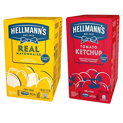 Knorr Notvorrat Lebensmittel - Hellmann's Mayonnaise und Ketchup Portionspackungen (praktische, hygienische Einzelportionen)