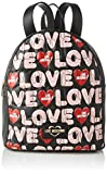 Love Moschino Jc4224pp0a, Zaino Donna, Multicolore (Black Multicolor), 14x30x25 cm (W x H x L)