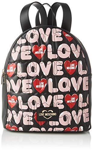 Love Moschino Damen Jc4224pp0a Rucksack, Mehrfarbig (Black Multicolor), 14x30x25 Centimeters