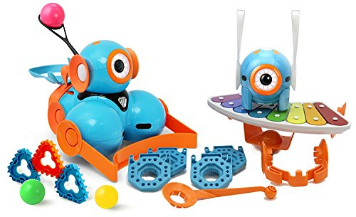 Wonder Workshop Dot and Dash Robot Wonder Pack - Coding Robot for Kids 6+ - Voice Activated - Navigates Objects - 5 Free Programming STEM Apps - Creating Confident Digital Citizens