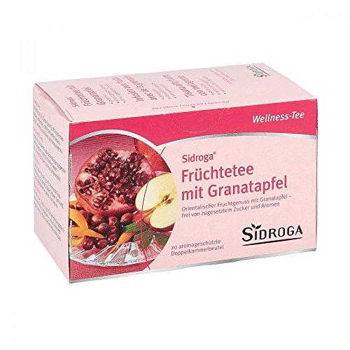 SIDROGA Wellness - Té de fruta con granada (20 unidades)