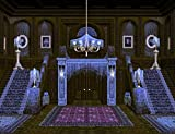 """DIY 5D Diamond Painting Numbering Kit Spooky Mansion Haunted House Staircase Chandelier 14"""" X 20"""" Adult Children Rhinestone Cross Stitch Painting Kit for Home Decoration"""