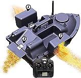 hgfch Futterboot Angeln Rc Boot Futterboot Angeln Köderboot Futterboot mit Echolot GPS Cruise Köder-Boot mit 12000Mah Batterie 3 Unabhängigen Köderfächern mit LED Nachtlicht -GPS
