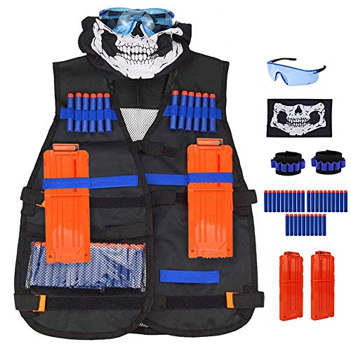 Nerf N-Strike Elite Series Gilet Tattico Kit with Proiettili Clip Accessori per Bambini