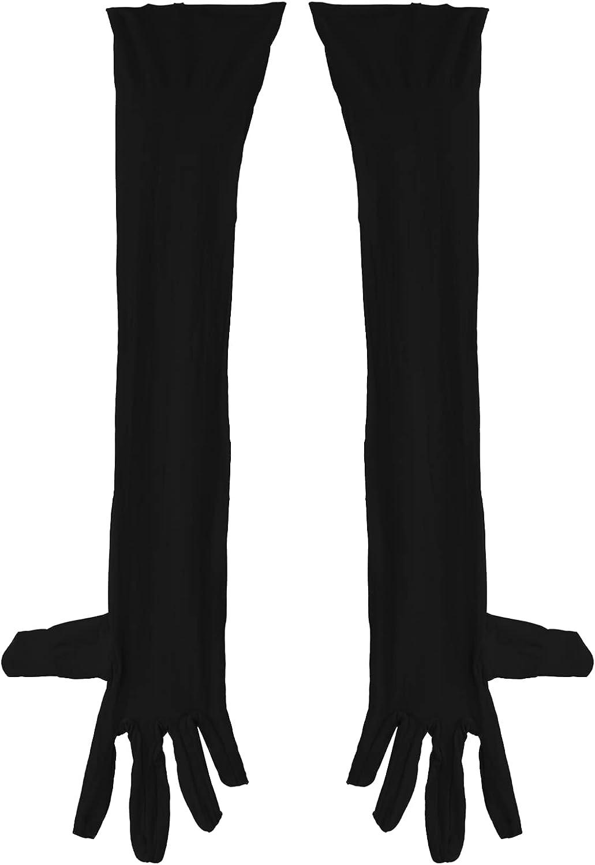 Sholeno Mens Fashion Elegant Thin Gloves Long Finger Elbow Protection Gloves Mittens Drive Gloves