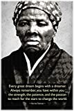 Harriet Tubman Change The World Quote Motivational Cool Wall Decor Art Print Poster 24x36