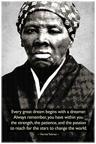 Harriet Tubman Change The World Quote Motivational Cool Huge Large Giant Poster Art 36x54