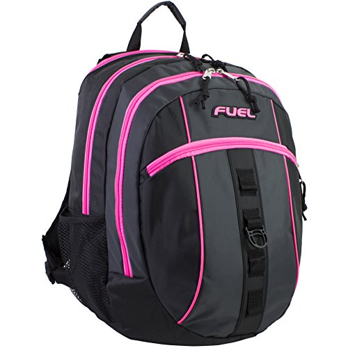 Fuel Sport Active Multi-Functional Ergonomic Backpack with Tech Compartment (Black/Pink)