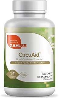 Zahler Circuaid, Blood Circulation Supplement, Supports a Healthy Circulatory System, Certified Kosher, 60 Capsules