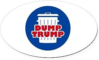 CafePress Dump Trump Oval Car Magnet, Euro Oval Magnetic Bumper Sticker