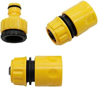 """HONGTAI 1 Set 3pcs Garden Water Pipe Connectors Kits Waterstop Connector Quick Connector 1/2"""" To 3/4"""" Inner Thread Connect..."""