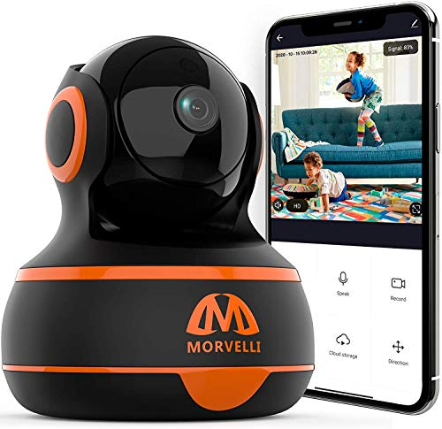 indoor camera for androids 1080P WiFi Indoor Home Security Camera Two-Way Audio, Smart Wireless Baby Monitor, IR Night Vision, App for iPhone, Android, Surveillance Security Cam Motion Detection, Alexa - Cloud Storage