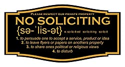 no soliciting sign with definition