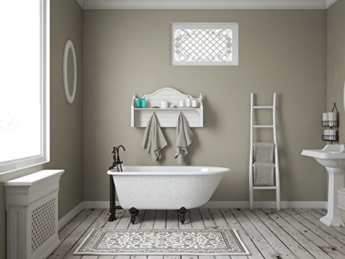 """Freestanding 55"""" Clawfoot Cast Iron Rolled Rim Tub with 7"""" Faucet Hole Drillings & Oil Rubbed Bronze Feet-""""Carroll"""""""