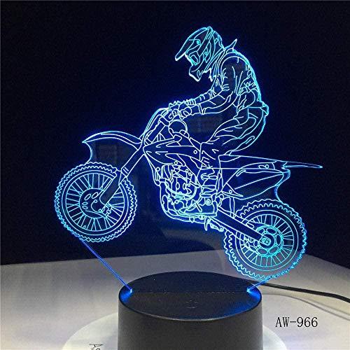 3D Illusionslampe LED Nachtlicht Neuheit Tischlampe Motocross Fahrrad Bedside USB 7 Farben Sensor Schreibtischlampe Als Weihnachtsgeschenk
