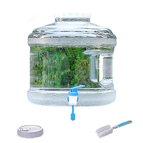 Finoki Bidón de agua, portátil, 7,5 L, con grifo, para camping, depósito de agua, para viajes al aire libre, color blanco