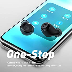 Wireless Earbuds, ENACFIRE F1 Wireless Earbuds CVC 8.0 Noise Cancellation apt-X Stereo Sound Wireless Headphones 208H Cycle Playtime IPX8 Waterproof Bluetooth 5.0 Headset