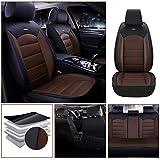 適合スバル For Subaru XV Crosstrek 軽普通車用 シートカバー レザー 防水 エプロンタイプ 前席 運転席 助手席 後部座席 5席 標準版—褐色