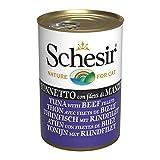 Schesir, Comida húmeda para Gatos Adultos, Sabor bacoreta con filetes de...