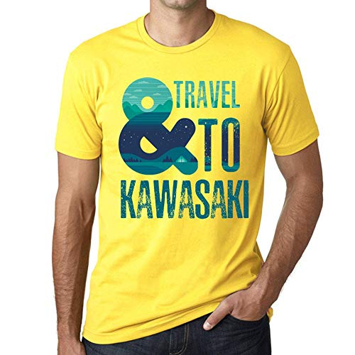One in the City Hombre Camiseta Vintage T-Shirt Gráfico and Travel To Kawasaki Amarillo