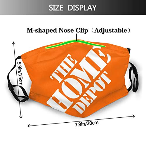 Home Depot Logo Adjustable Earloop Face Mouth Anti Pollution Washable with 6 Filters