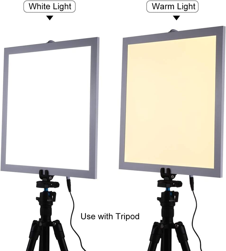 Color : Color5 Acrylic Material 34.7cm x 34.7cm Effective Area No Polar Dimming Light JINUS 1200LM LED Photography Shadowless Light Lamp Panel Pad with Switch