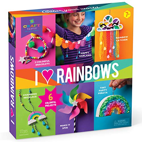 Craft-tastic – I Love Rainbows Craft Kit – Make 6 Colorful Arts & Crafts Projects