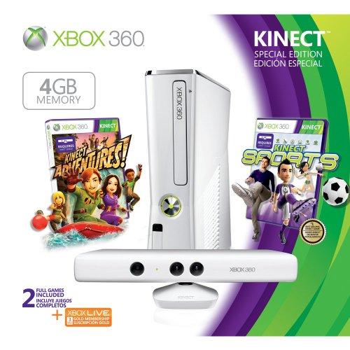 Xbox 360 Special Edition 4GB Kinect Sports Bundle (Renewed)