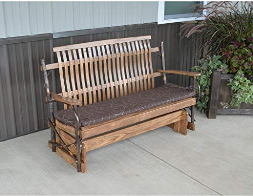 A&L Furniture Co. Amish Bentwood 4' Hickory Porch Glider - Lead TIME to Ship 3 Weeks