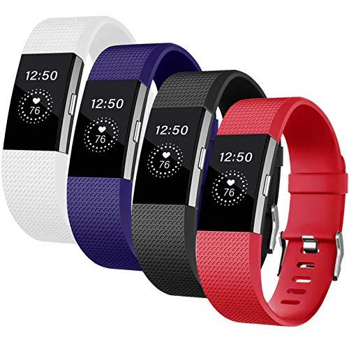 Deilin Armband für Fitbit Charge 2 für Damen und Herren, Silikon Ersatz Fitness Armbänder Ersetzbares Sport Uhrenarmband Fitness Wristband für Fitbit Charge2
