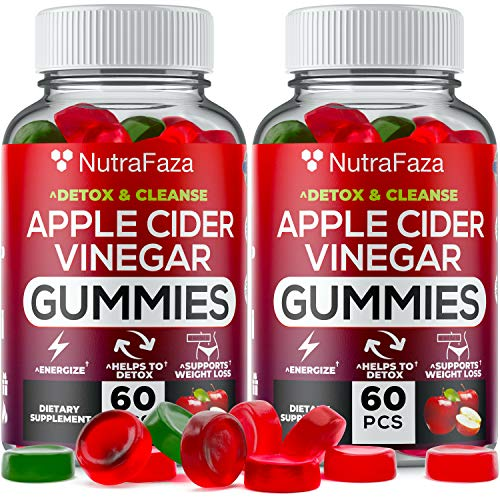 (2 Pack) Apple Cider Vinegar Gummies with Mother for Immunе Support - Vegan - Detox, Cleanse Support - Bloating Relief - Gummy Alternative to Apple Cider Vinegar Capsules, Pіlls, Made in USA