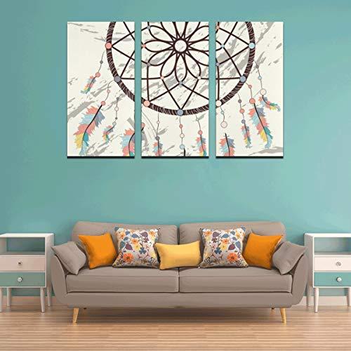 3 paneles 3d arte decoración de pared para niños colorido atrapasueños lienzo impreso arte de la pared decoración del país arte de la pared baño decoración de la pared para el hogar sala de estar do