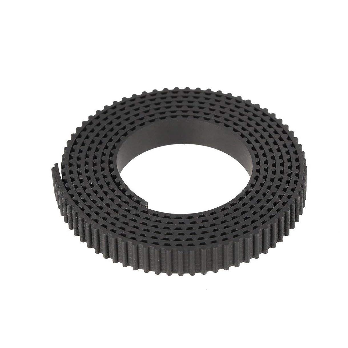 つかまえるブルゴーニュ圧縮された2GT 6mmオープンタイミングベルト幅6mm 2GTベルトゴムPUグラスファイバーカット用3Dプリンター部品用ベルト(ブラック) (Rustle666)