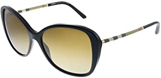 Burberry Women's 0BE4235Q 3001T5 57 Sunglasses, Black/Polarbrowngradient