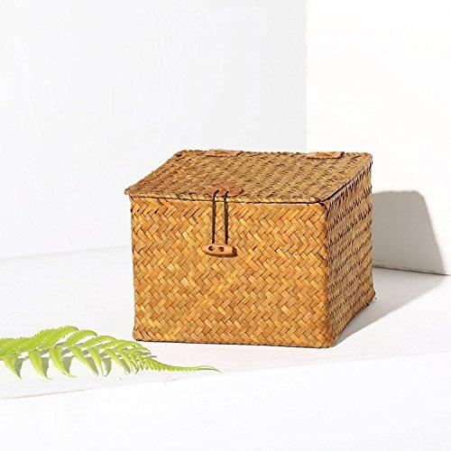 XBR la boîte _ paille Storage Box cosmétiques boîte stockage panier avec les cosmétiques orange medio,per favore