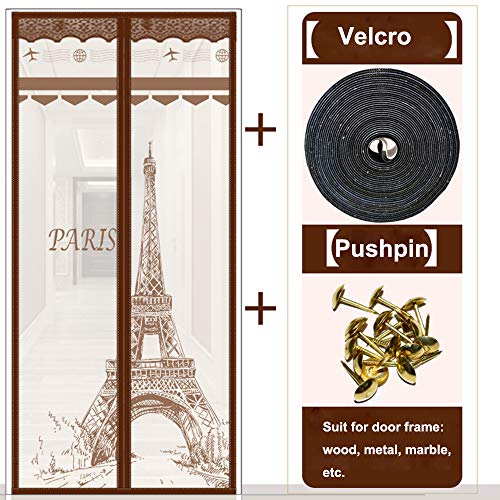 Mosquito Door Screen, Magnetic Screen Door met Heavy Duty Mesh Curtain voor Keep Bugs Fly Out 22 Size,110 * 220cm