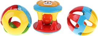 koolsoo 3 Pieces Baby Toddler Grasping Handbells Clutching Toy Early Educational Toy