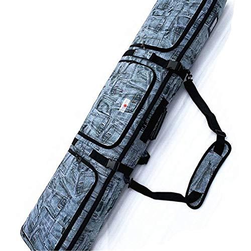 ChengBeautiful Snowboardtasche Single- und Double Board Snowboard-Tasche mit Rädern Guru-Ski-Stiefel Feste Gerätetasche-Schultern und eine Schulter tragbar Einfach Zu Transportieren Und Zu Reisen