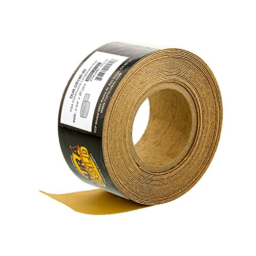 Dura-Gold - Premium - 180 Grit Gold - Longboard Continuous Roll 20 Yards long by 2-3/4