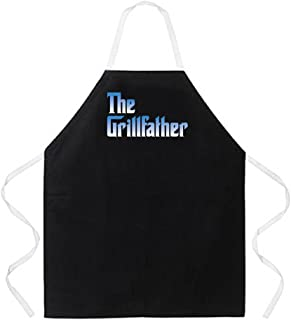Attitude Aprons Fully Adjustable The Grillfather Apron, Black